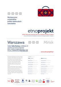 EtnoProjekt Plakat Wernisaż Warszawa
