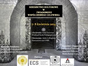 konferencja: Dziedzictwo kulturowe wświadomości współczesnego człowieka