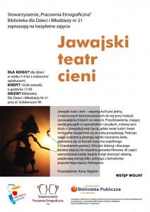 Jawajski teatr cieni -  Przygoda wbibliotece