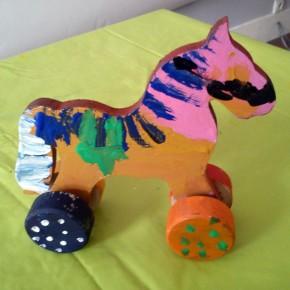 Zabawki ludowe – koniki, fot. Alina Kaczmarek