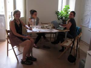 W biurze MKC, Praga, fot.A. Czyżewska