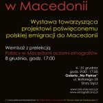 """Wystawa """"Polskie ślady wMacedonii"""" wStarym Sączu"""
