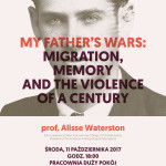 My Father's Wars: Migration, Memory and the Violence of aCentury – spotkanie zprof.Alisse Waterston