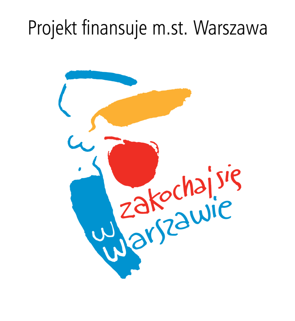 logo zsyrenką, Projekt finansuje m.st. Warszawa. Zakochaj się wWarszawie