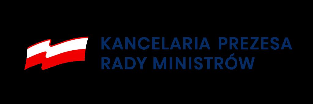 logotyp zpolską flagą inapis Kancelaria prezesa rady ministrów