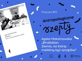 grafika z okładką książki, tytułem podcastu i logotypami
