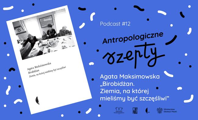 grafika zokładką książki, tytułem podcastu ilogotypami