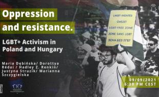 Oppression and resistance. LGBT+ Activism in Poland and Hungary, 09/09/2021 6:30 PM CEST, Maria Dębińska/ Dorottya Rédai / Hadley Z. Renkin/ Justyna Struzik/ Marianna Szczygielska, Logo: Duży Pokój, Stowarzyszenie Pracownia Etnograficzna, Fot. Piotr Wójcik, PictureDoc
